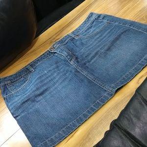 Route 66 Jean Mini Skirt